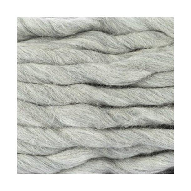 Chunky ren ny uld - lys grå