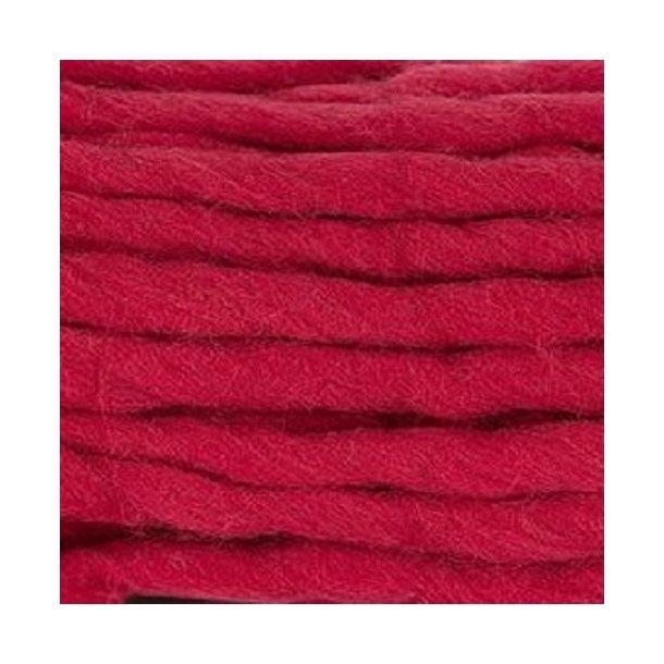 Chunky ren ny uld - rød