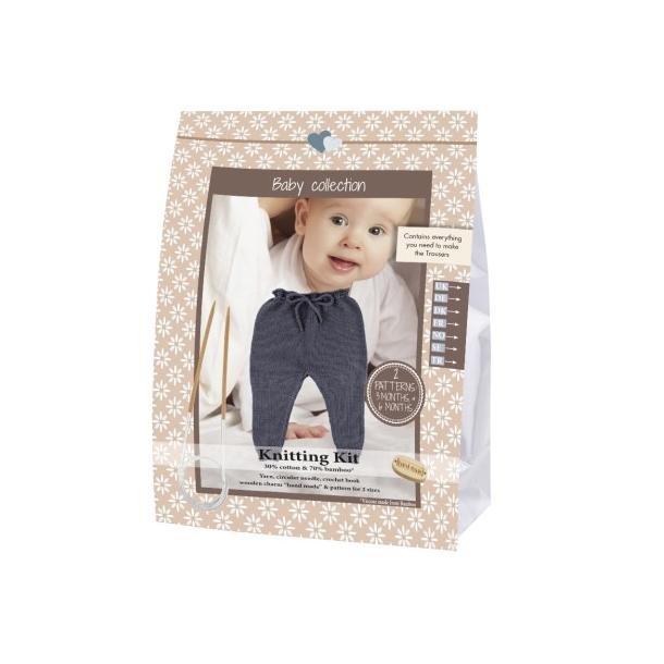Baby Gamacher Strikkekit - Mørkegrå