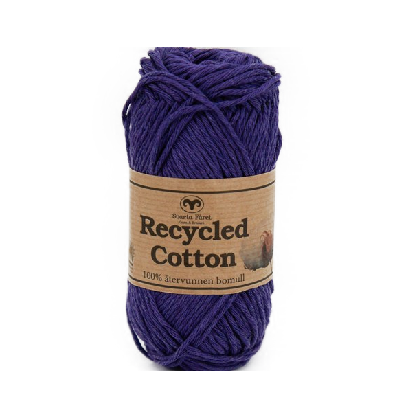 Recycled Cotton - Mørk Lilla
